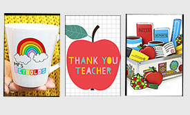 11 teacher gift ideas - including some that you can send over email