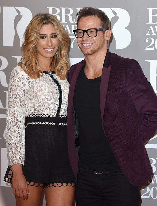 stacey solomon boyfriend joe swash at the brits