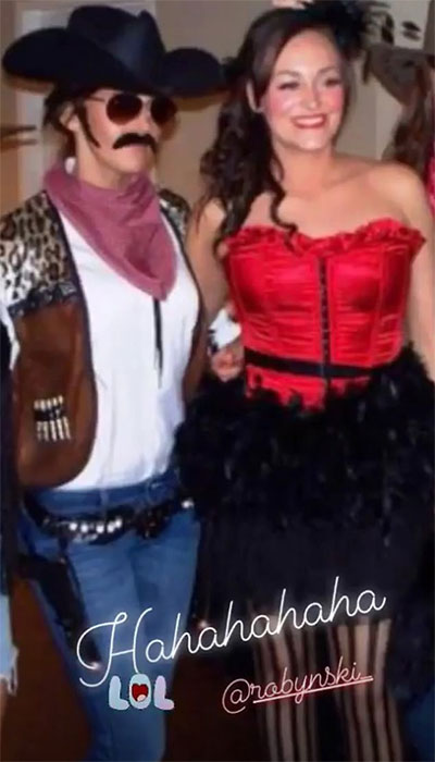 Michelle-Keegan-fancy-dress-throwback-cowboy