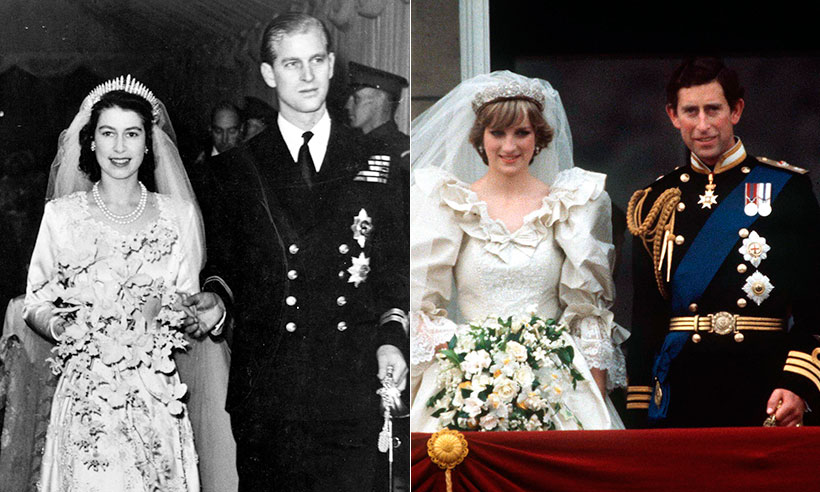 queen prince philip wedding charles diana
