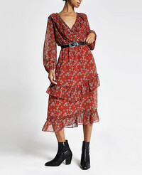 floral dress from river island with sleeves