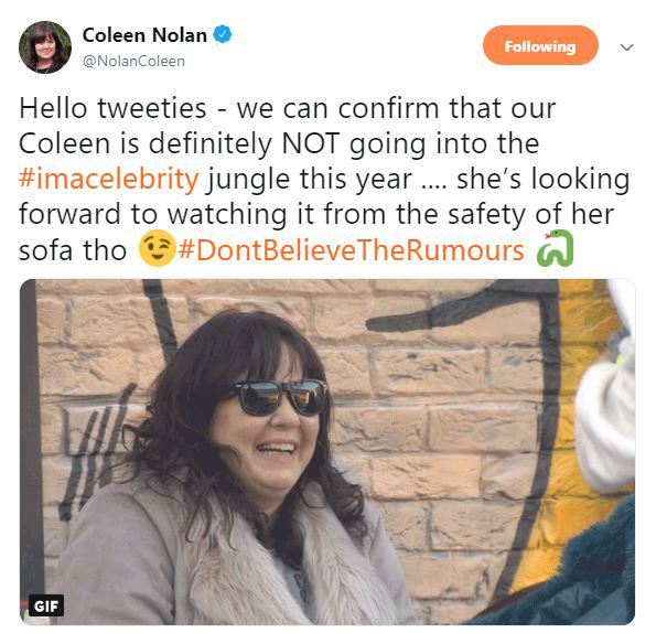 coleen-nolan-breaks-social-media-silence