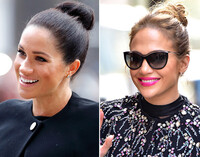 The Micro Bun as seen on Meghan Markle and Jennifer Lopez
