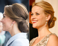 The Low Chignon as seen on Kate Middleton and Reese Witherspoon