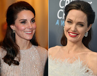 The Half Up 'Do as seen on Kate Middleton and Angelina Jolie