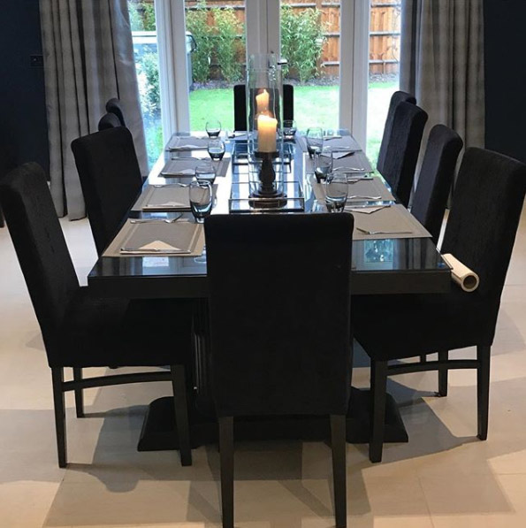 Peter Andre dining room