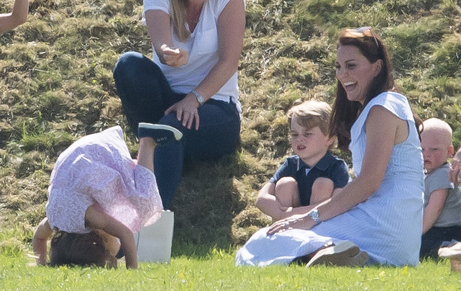 Princess Charlotte doing headstand