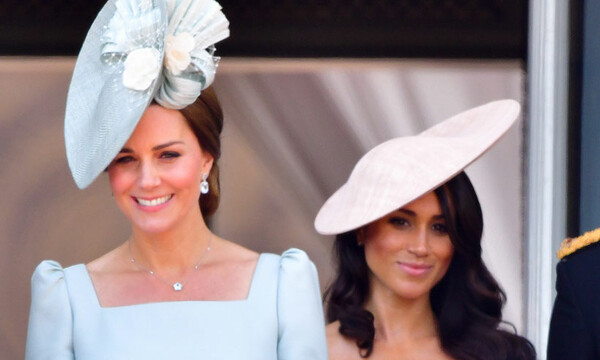 kate middleton meghan markle trooping the colour
