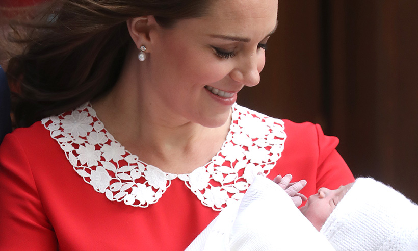 Kate with baby Louis