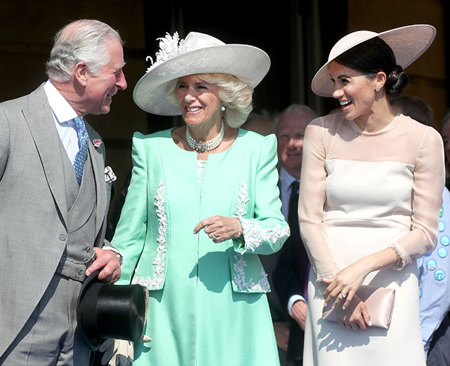 Charles-Camilla-Meghan-garden-party