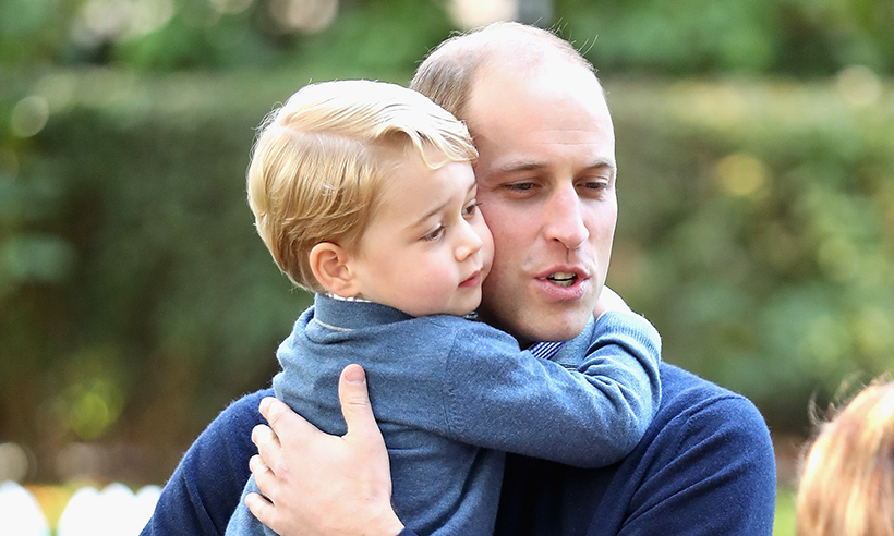 These were Prince George's proud words to Prince William before he flew to Cyprus