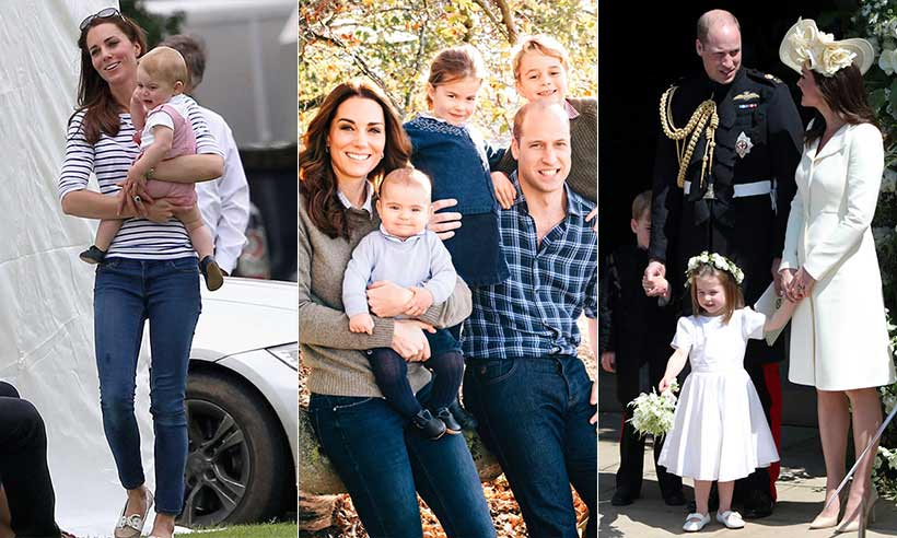 Kate Middleton's precious mummy moments with Prince George, Princess Charlotte and Prince Louis