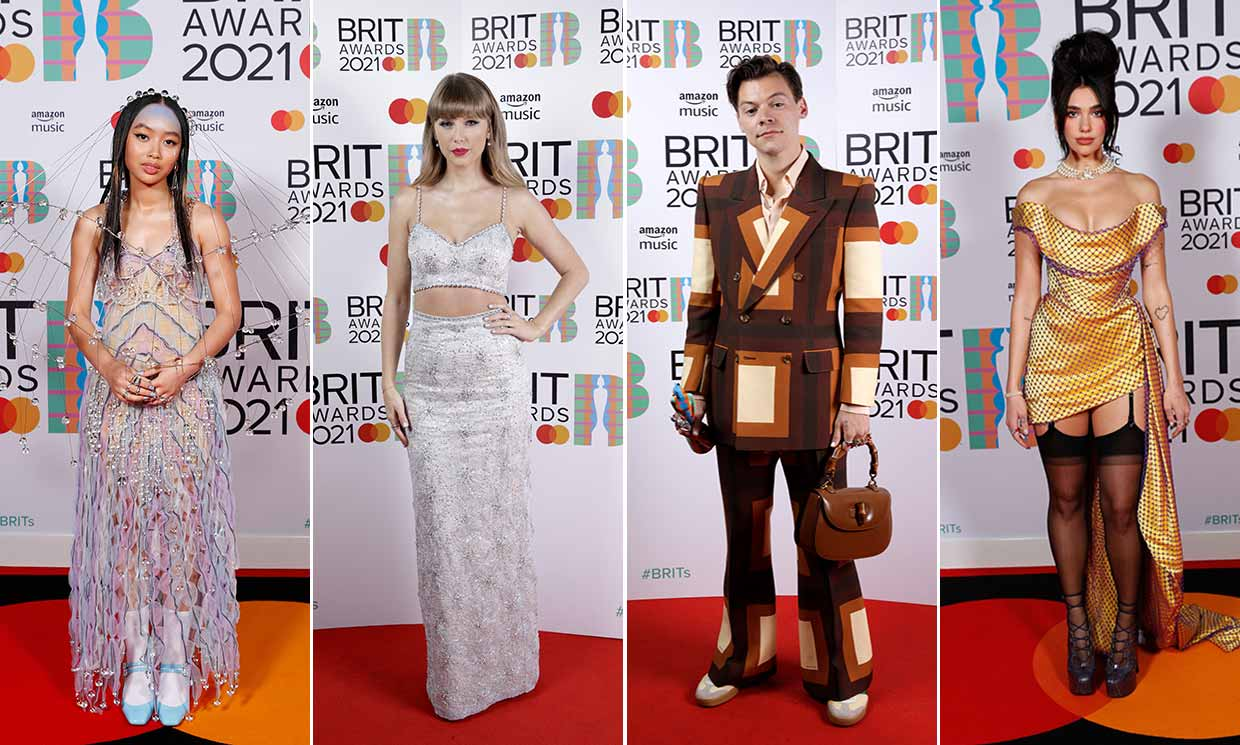 Best Dressed Stars at the BRITs 2021: Dua Lipa, Harry Styles, Taylor Swift  & more | HELLO!
