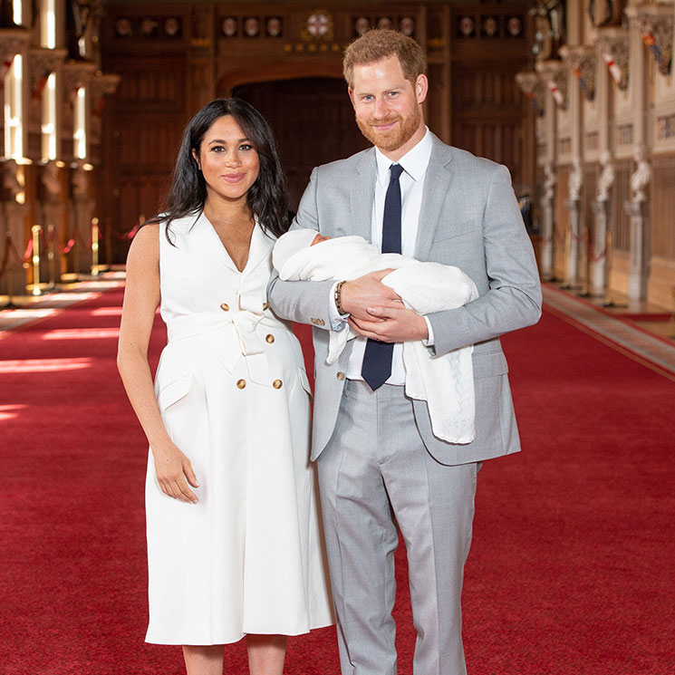 Prince Harry and Meghan Markle introduce baby boy – see all the photos